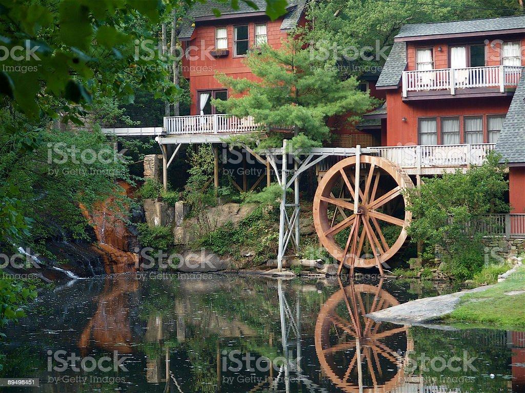 Water Wheel Hotel royalty-free stock photo