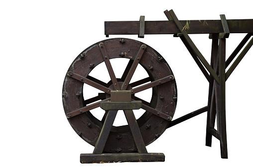 istock water wheel isolated on white 904315810