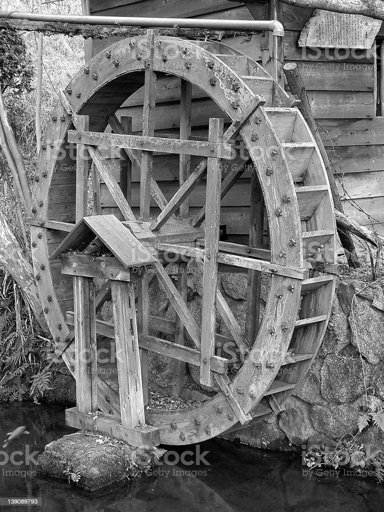 Water Wheel stock photo