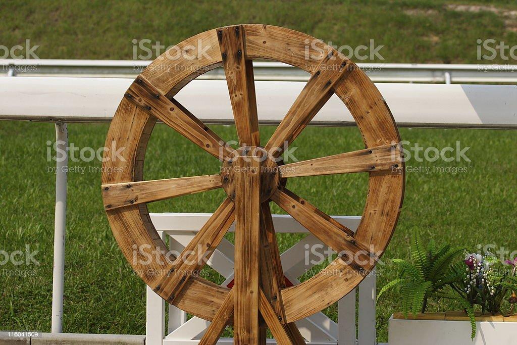 Water wheels stock photo