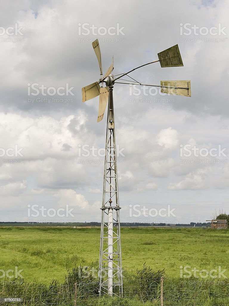 water windmill royalty-free stock photo