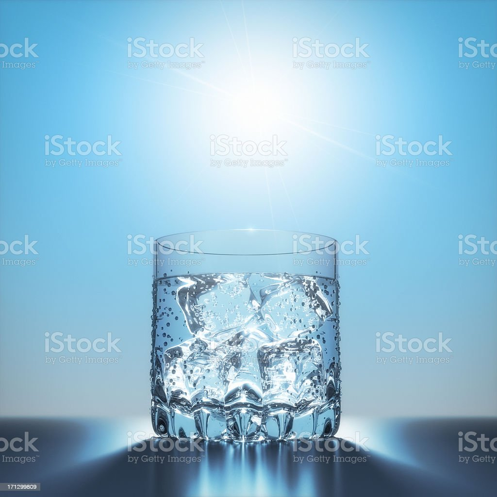 Water with Ice under the Sun XL+ stock photo