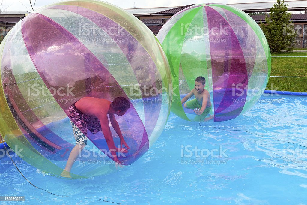 Water Zorbing stock photo