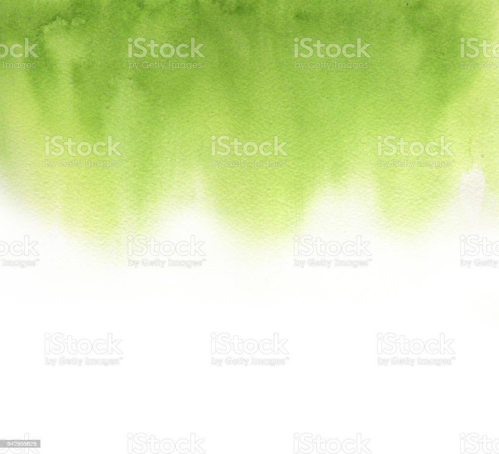 watercolor absrtract gradient green stock photo