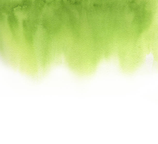 watercolor absrtract gradient green - watercolor painting stock pictures, royalty-free photos & images