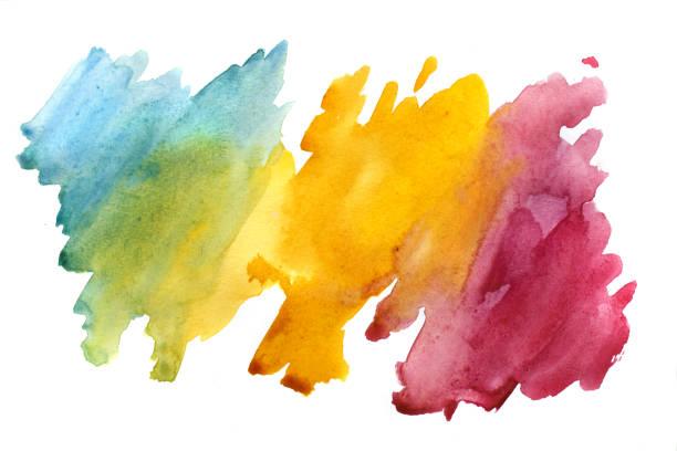 arrière-plan abstrait aquarelle - aquarelle sur papier photos et images de collection