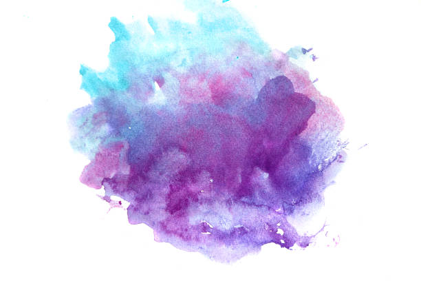 watercolor abstract background - purple watercolor stock pictures, royalty-free photos & images