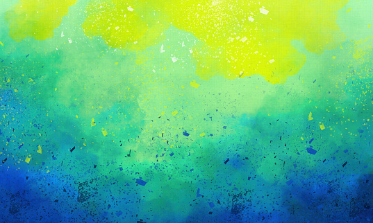 Hand-painted Watercolor Background - Abstract  Painting on Watercolor Paper - Paint Spatters
