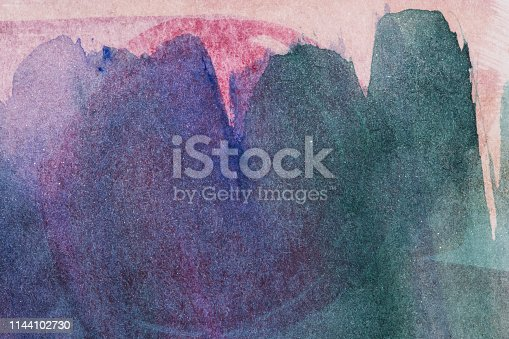istock watercolor background blue painted completely with the edge of brush strokes 1144102730
