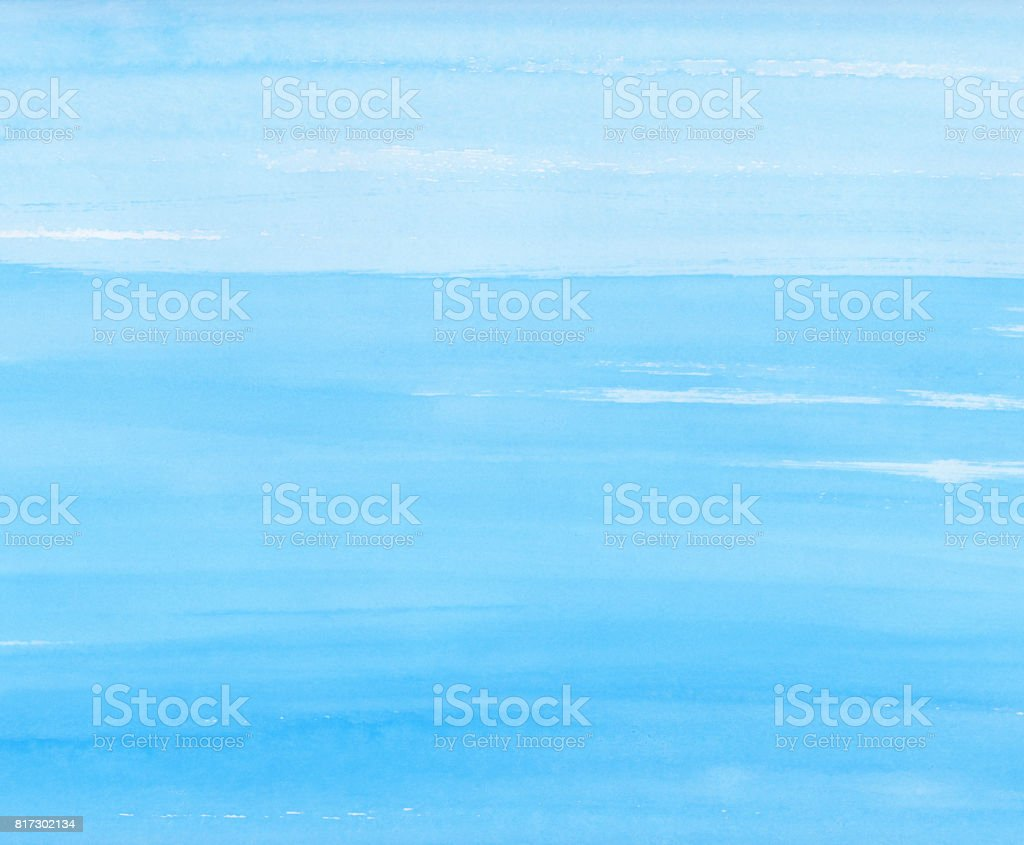 Watercolor background blue texture stock photo