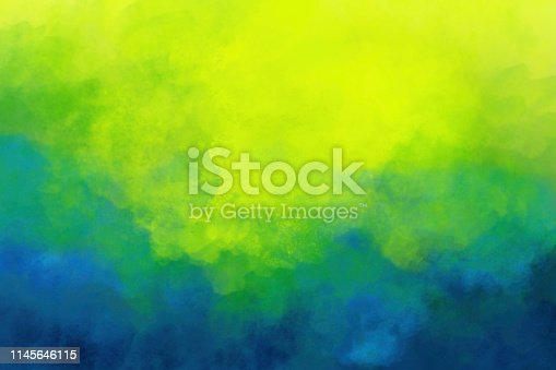 Colorful Watercolor Background - Vivid Colors Yellow Green Blue Teal Texture Vibrant Bright Colors Abstract