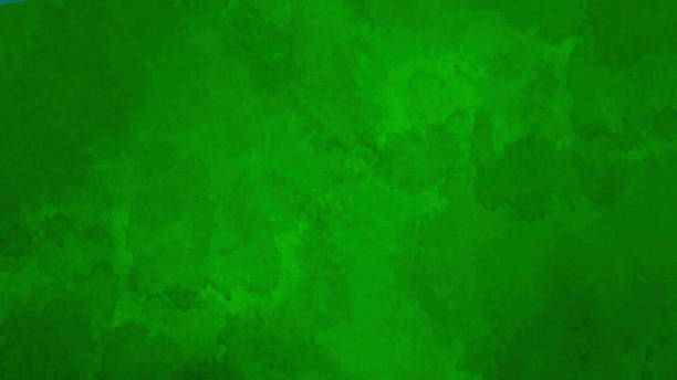 Watercolor Background on Watercolor Paper Texture - Green Colors stock photo