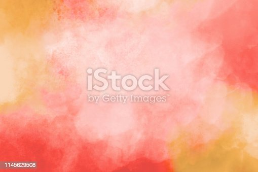 Colorful Watercolor Background - Pink Orange Red Pastels - Texture Abstract