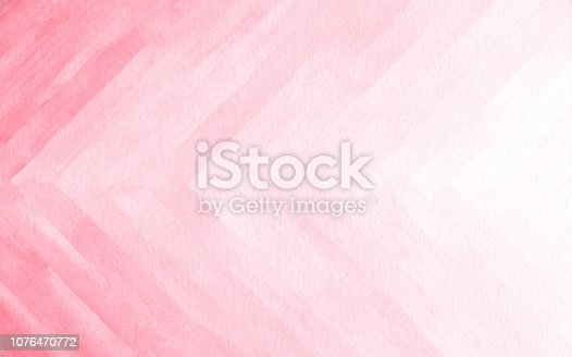 istock Watercolor background texture soft pink. Abstract pink tones. 1076470772