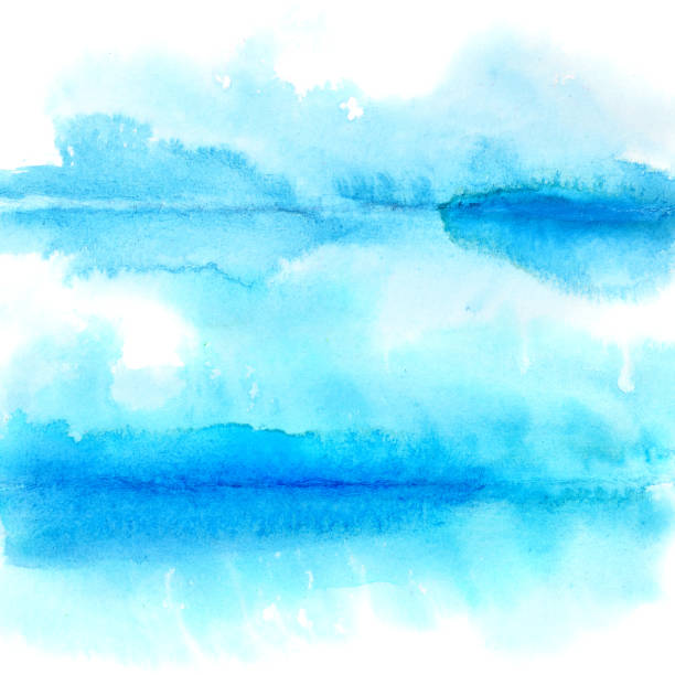 Watercolor background with folds stock photo