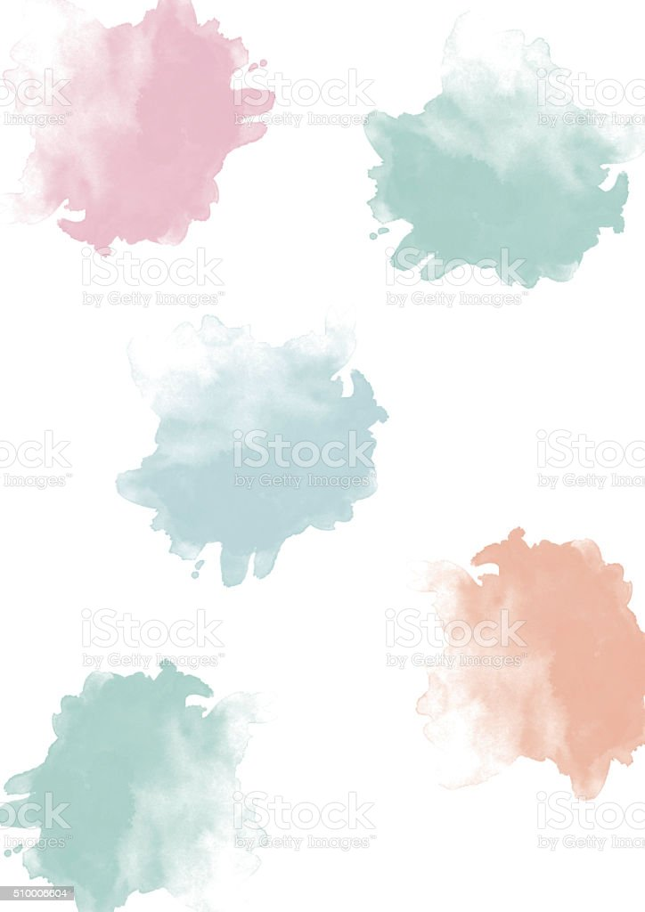 Aquarell BLOBs Pastell – Foto
