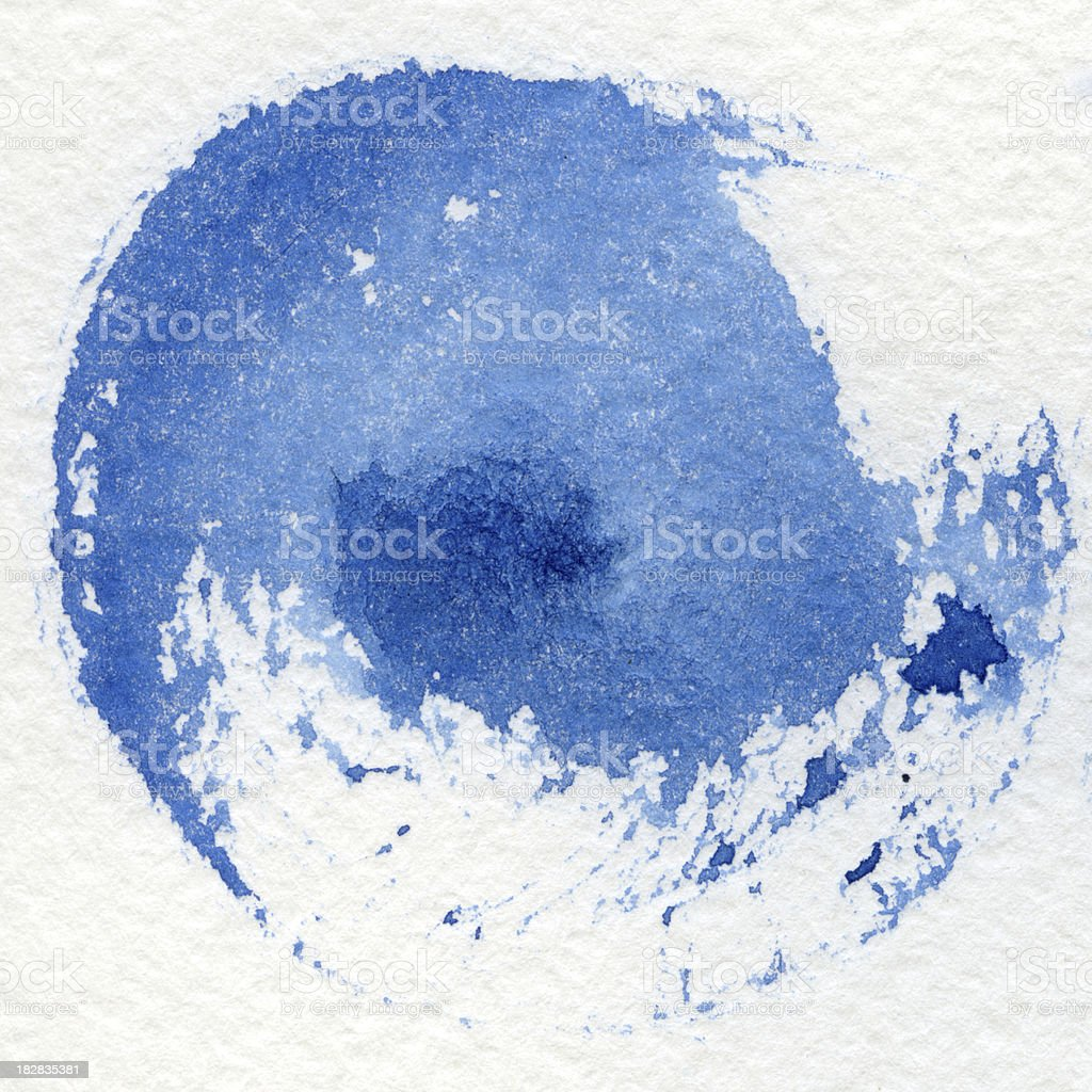 Watercolor blue background royalty-free stock photo