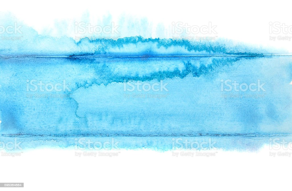 Watercolor blue stripe stock photo