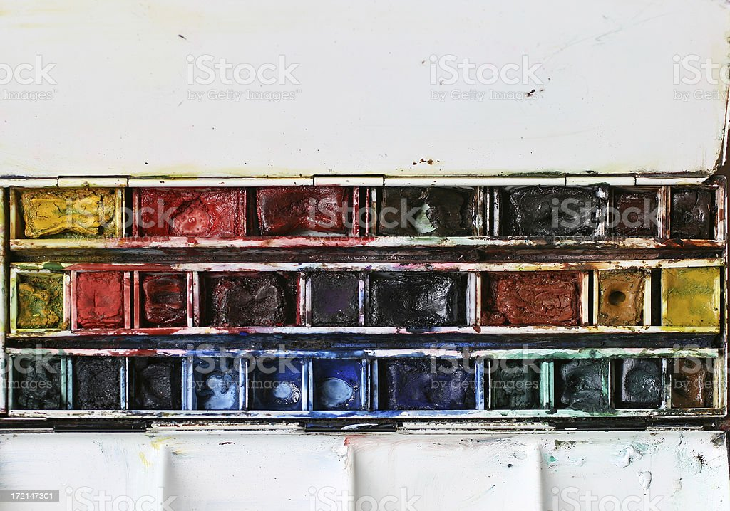 Watercolor box royalty-free stock photo