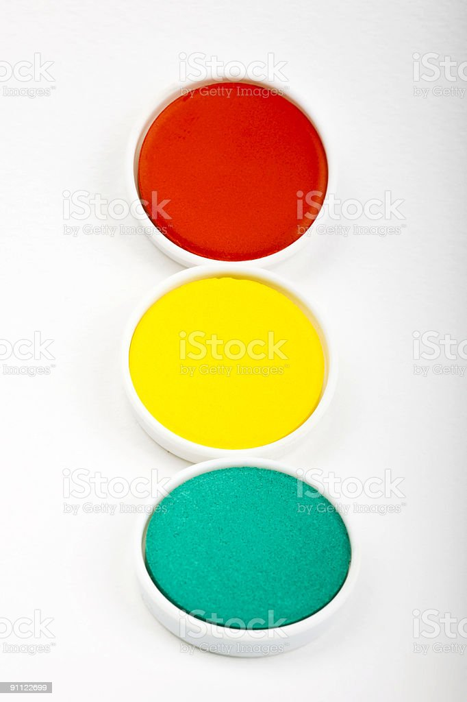 Water-color box stock photo