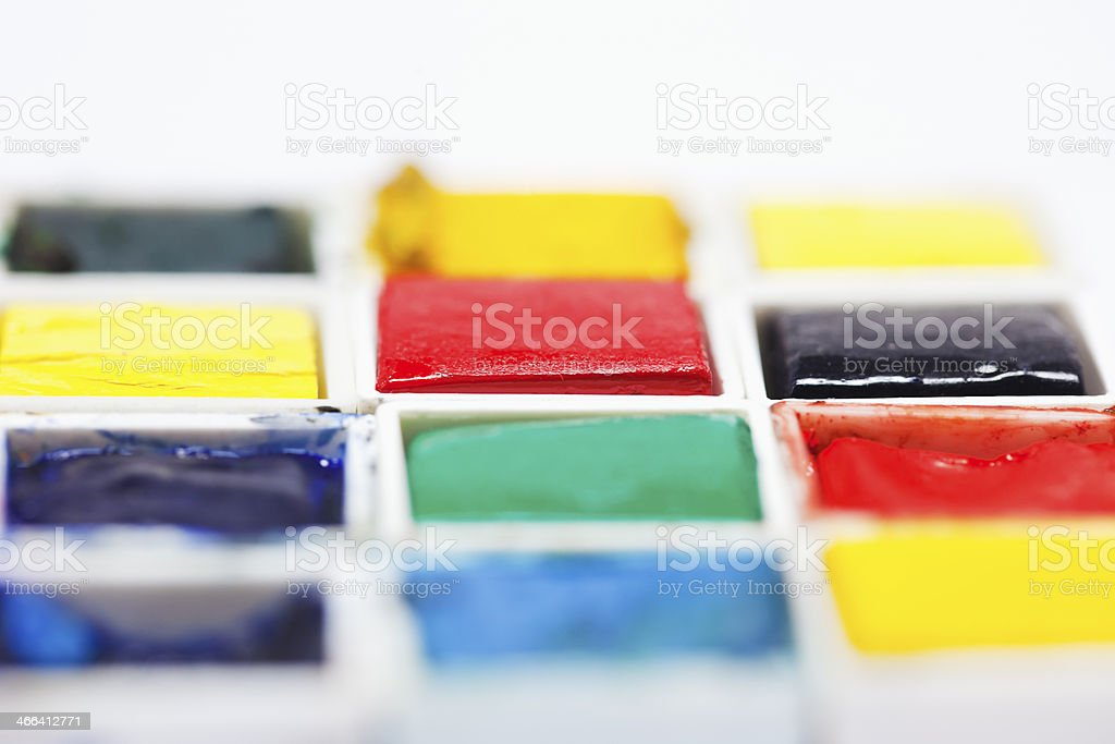 Watercolor boxes. royalty-free stock photo
