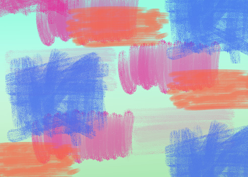 istock Watercolor brush abstract painting color texture pattern - Multicolor watercolor brush strokes background 1194208624
