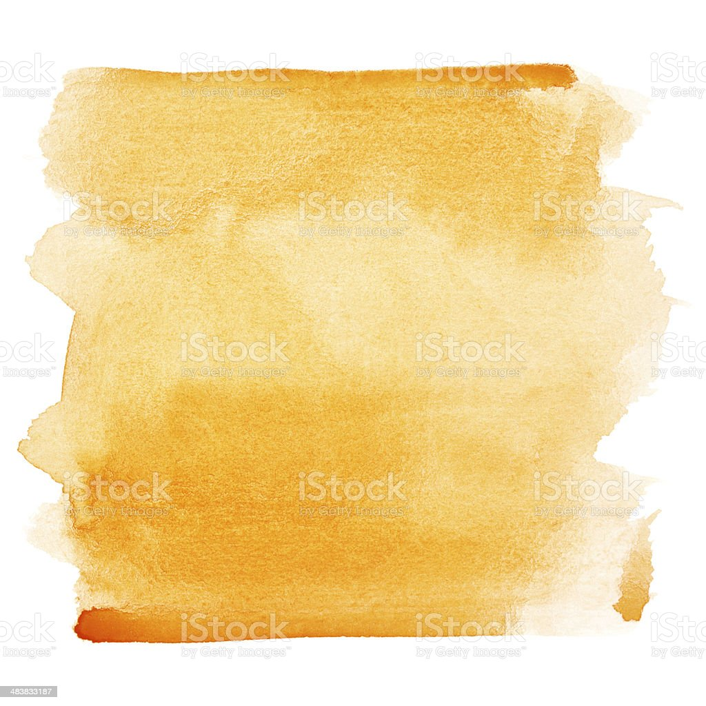 Watercolor brush strokes stock photo