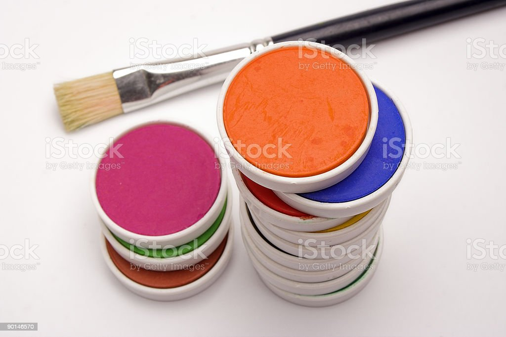 watercolor cells royalty-free stock photo