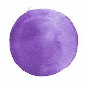 Watercolor Circle Lavender
