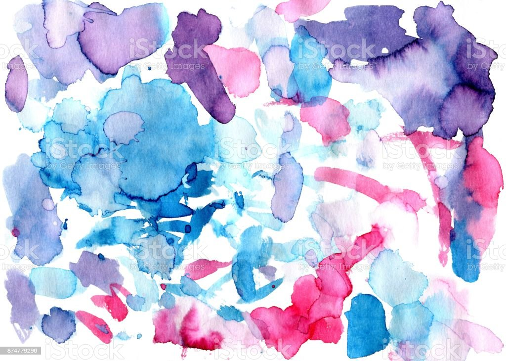 Watercolor colourful spots. Raster background. stock photo