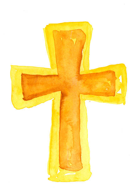 Watercolor Cross Hand painted watercolor cross. kathrynsk stock pictures, royalty-free photos & images