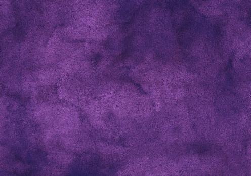 Watercolor deep violet background texture, hand painted. Vintage watercolour grape color backdrop.