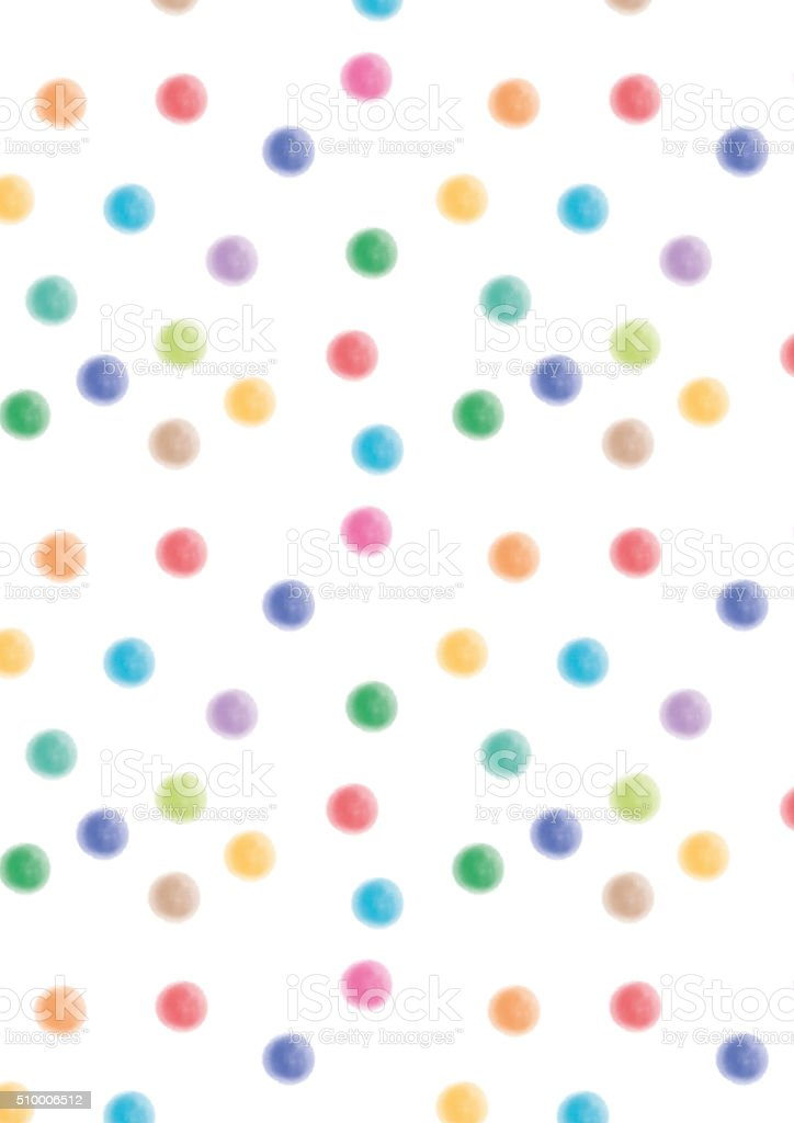 Watercolor dots colorful stock photo