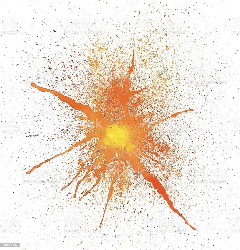 Watercolor Explosive Frame stock photo