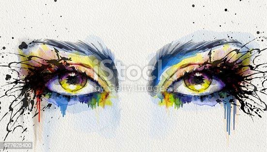 istock Watercolor Eyes 577625400