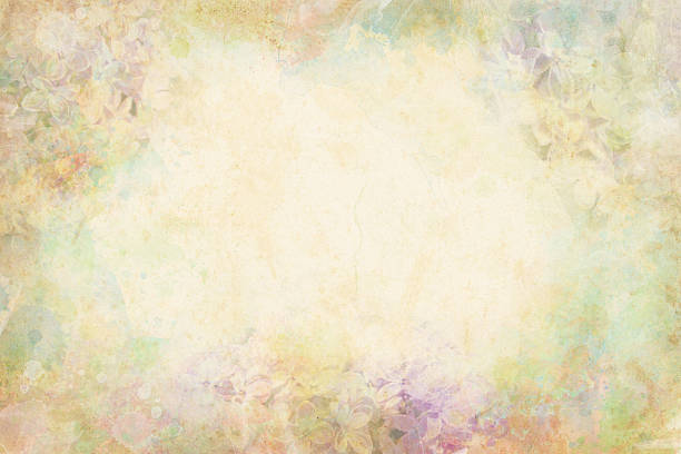 watercolor flowers - vintage flowers stock photos and pictures