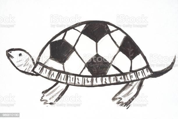 Watercolor hand drawn cartoons sport soccer turtle with football ball picture id986810190?b=1&k=6&m=986810190&s=612x612&h=uhhxsru1tvura4gqjdoh9ymwwd9le wua1uktbwqlum=