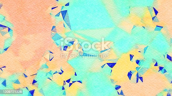 653305952 istock photo Watercolor Illustration Abstract Geometric Background 1209721328