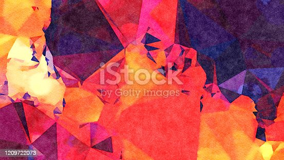 653305952 istock photo Watercolor Illustration Abstract Geometric Background 1209722073