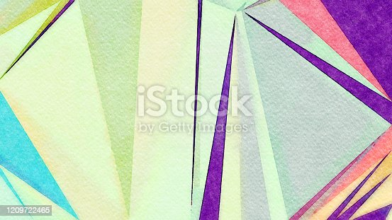 653305952 istock photo Watercolor Illustration Abstract Geometric Background 1209722465