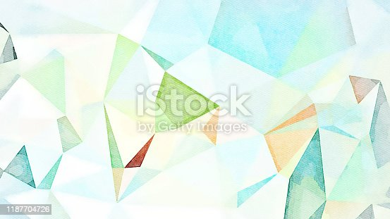 916322742 istock photo Watercolor Illustration Geometric Background 1187704726