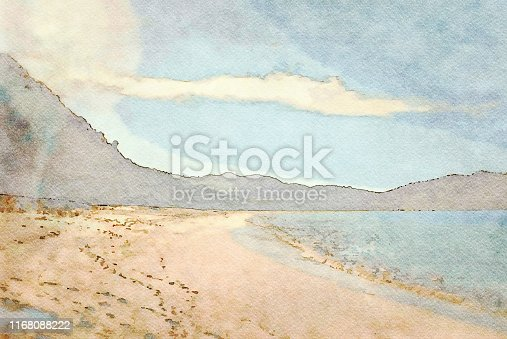 This is my Photographic Image of a Beach Background in a Watercolour Effect. Because sometimes you might want a more illustrative image for an organic look.