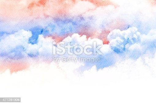 490140226istockphoto Watercolor illustration of cloud. 477281906