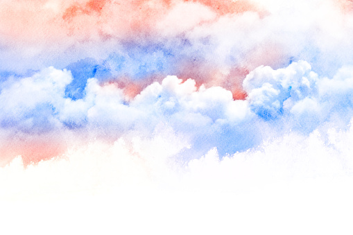 490140226 istock photo Watercolor illustration of cloud. 477281906