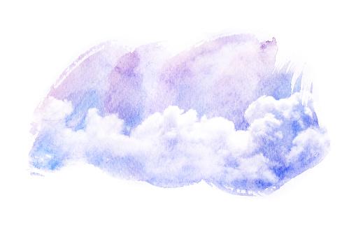 490140226 istock photo Watercolor illustration of cloud. 484641382