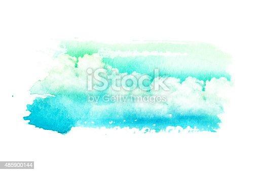490140226istockphoto Watercolor illustration of cloud. 485900144