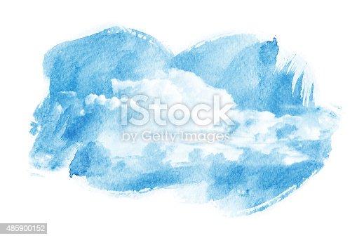 490140226istockphoto Watercolor illustration of cloud. 485900152