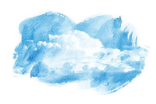 490140226 istock photo Watercolor illustration of cloud. 485900152