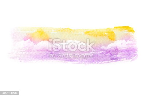 490140226istockphoto Watercolor illustration of cloud. 487300540