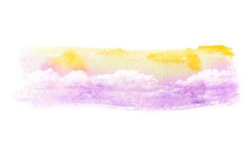 490140226 istock photo Watercolor illustration of cloud. 487300540